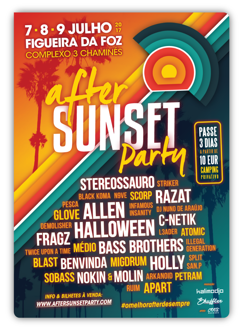 Img - AFTER SUNSET PARTY 2017 - 7, 8 E 9 DE JUL - FIGUEIRA DA FOZ