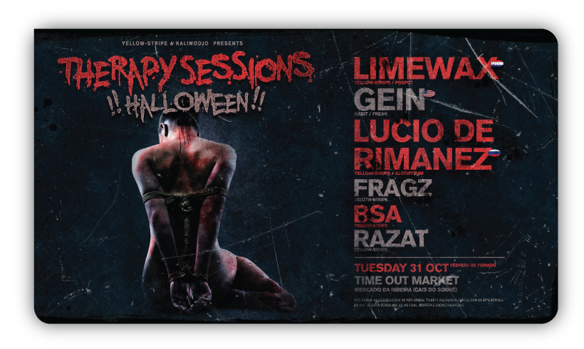 Img - THERAPY SESSIONS HALLOWEEN 31 OUTUBRO @ TIMOUT MARKET